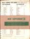 1973 Bally Parts Catalog Supplement 3