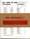 1974 Bally Parts Catalog Supplement 1