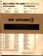1974 Bally Parts Catalog Supplement 2 cover