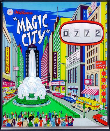 1967 Williams Magic City Backglass