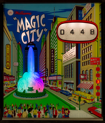 Magic City Backglass with Color Wheel