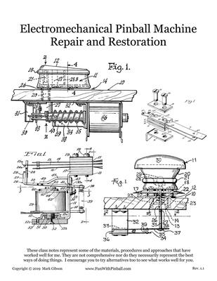 Pinball Repair and Restoration workbook