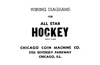 All Star Hockey wiring diagrams cover