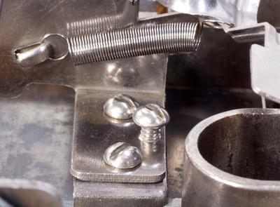 Trap Door bracket before adjustment