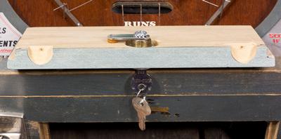 Coin door and lock