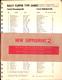 1973 Bally Parts Catalog Supplement 2