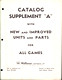 1967 Williams Catalog Supplement A