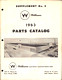 1963 Williams Parts Catalog Supplement 2 cover